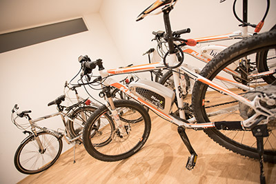 E-Bikes und Mountainbikes im Peterlinhof Kaltern